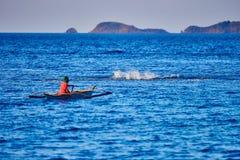 Barco de pesca tradicional Palawan do pescador Filipinas Fotografia de Stock