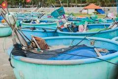 Barco de pesca tradicional redondo Vietnam fotografía de archivo libre de regalías