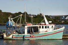 Barco de pesca velho. fotografia de stock
