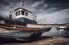 Barco de pesca velho Foto de Stock