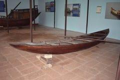 Barco de pesca velho indiano a história dos barcos Fotografia de Stock