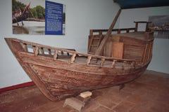 Barco de pesca velho indiano a história dos barcos Foto de Stock Royalty Free