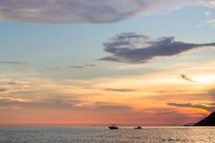 Barco de plátano en el mar Fotografía de archivo