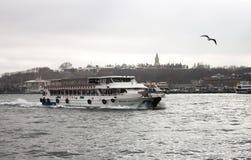 Barco de placer de Estambul Foto de archivo libre de regalías