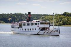 Barco de placer, Estocolmo, Suecia Fotografía de archivo libre de regalías
