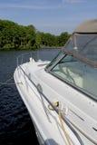 Barco de placer grande lujoso imagen de archivo libre de regalías