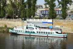 Barco de placer Pirogov Foto de archivo libre de regalías
