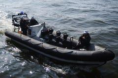 Barco de polícia Paris Imagem de Stock Royalty Free