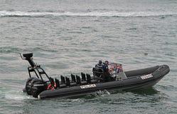 Barco de polícia Paris Fotos de Stock Royalty Free