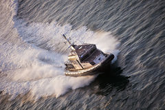 Barco de polícia na patrulha Foto de Stock Royalty Free