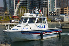 Barco de policía Imagen de archivo libre de regalías