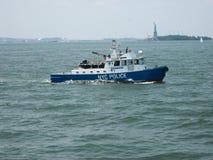 Barco de policía de Nueva York Fotografía de archivo libre de regalías