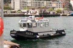 Barco de policía del agua Imagen de archivo libre de regalías