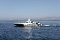 Barco de policía español Imágenes de archivo libres de regalías