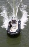Barco de policía París Imagen de archivo libre de regalías