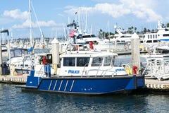 Barco de policía Imagenes de archivo