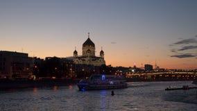 Barco de prazer iluminado Foto de Stock Royalty Free