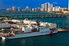 Barco de protetor da costa de Miami E.U. foto de stock royalty free