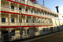 Barco de río histórico del vapor - ahora un espacio multiusos - en Frase Imagen de archivo