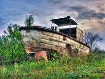 Barco de río viejo fotos de archivo