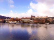 Barco de rio de Praga Imagens de Stock Royalty Free