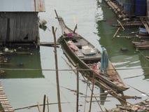 barco de //river en el río Mekong en Vietnam Fotos de archivo libres de regalías