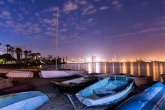 Barco de San Diego en la playa Imagenes de archivo