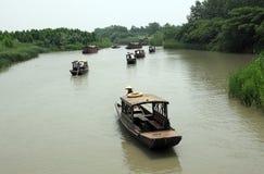 Barco de Sculling Fotografía de archivo