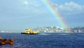 Barco de Sydney Ferry del transporte que dirige a Sydney Cirqular Quay Fotos de archivo
