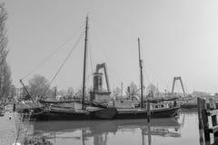 Barco de Tradional en Rotterdam imagen de archivo libre de regalías