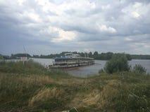 Barco de turista Shipwrecked Bulgária Fotografia de Stock Royalty Free