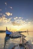 Barco de um pescador Foto de Stock Royalty Free