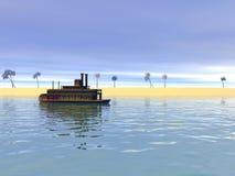 Barco de vapor Foto de archivo