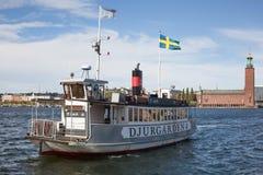 Barco de vapor en Estocolmo Imagen de archivo libre de regalías