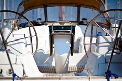 Barco de vela com rodas Fotos de Stock Royalty Free