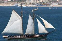 Barco de vela de Cabo Imágenes de archivo libres de regalías