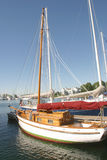 Barco de vela de madera Imagen de archivo libre de regalías