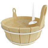 Barco de vela del juguete en tina de baño imágenes de archivo libres de regalías