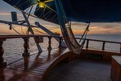 Barco de vela en el Caribe Fotografía de archivo