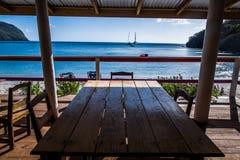 Barco de vela en el Caribe Imagenes de archivo