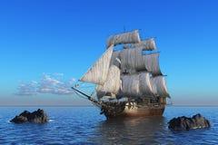 Barco de vela en el mar. fotos de archivo libres de regalías