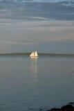 Barco de vela en el mar Imagen de archivo