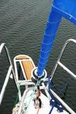 Barco de vela en el Sun Fotografía de archivo