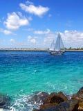 Barco de vela en la Florida imagen de archivo libre de regalías