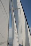 Barco de vela en la vela Imagen de archivo libre de regalías