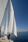 Barco de vela en la vela Foto de archivo libre de regalías