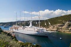 Barco de vela grande Foto de archivo libre de regalías