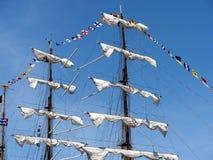 Barco de vela Masted tres de México en Havana Harbour Imágenes de archivo libres de regalías