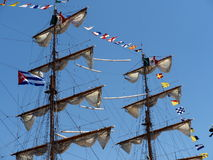 Barco de vela Masted tres de México en Havana Harbour Fotografía de archivo libre de regalías