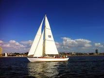 Barco de vela na cidade de Long Beach Foto de Stock